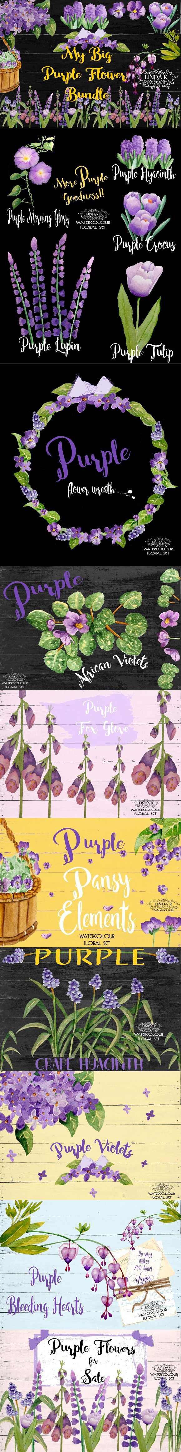 My Big Purple Flower Bundle Pinterest