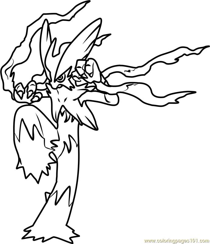 Mega Blaziken Pokemon Coloring Page 690x800