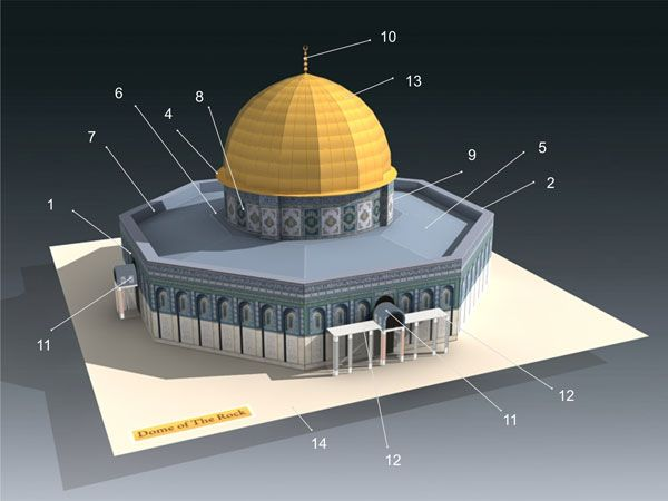 Dome of The Rock Papercraft | Rocks | Dome of the rock