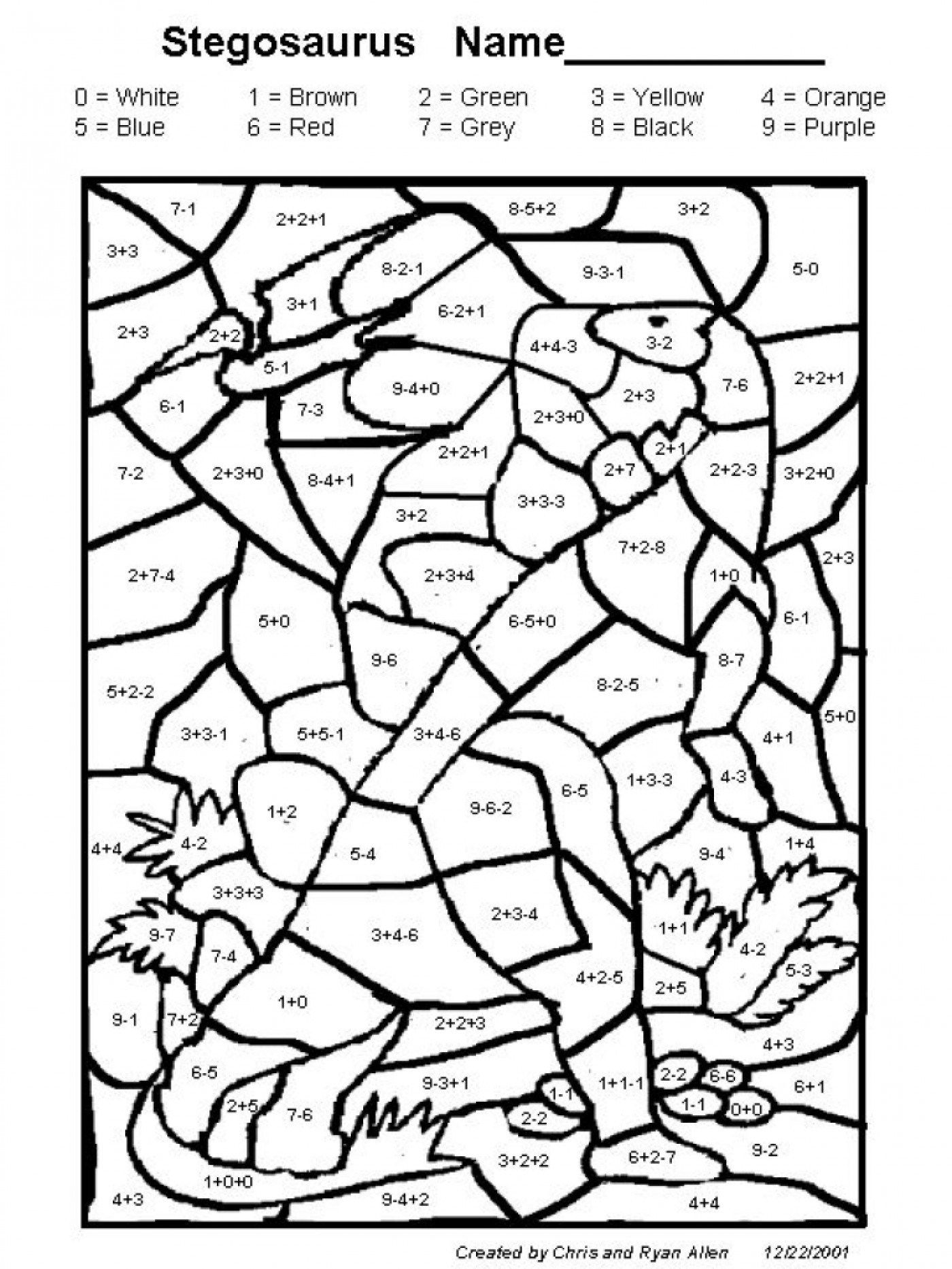 Excellent Image Of Addition Coloring Pages