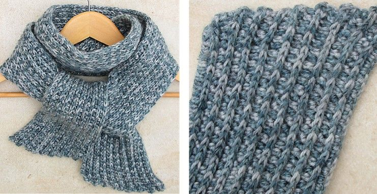 Cozy Ribbed Crocheted Scarf Free Crochet Pattern Beautiful