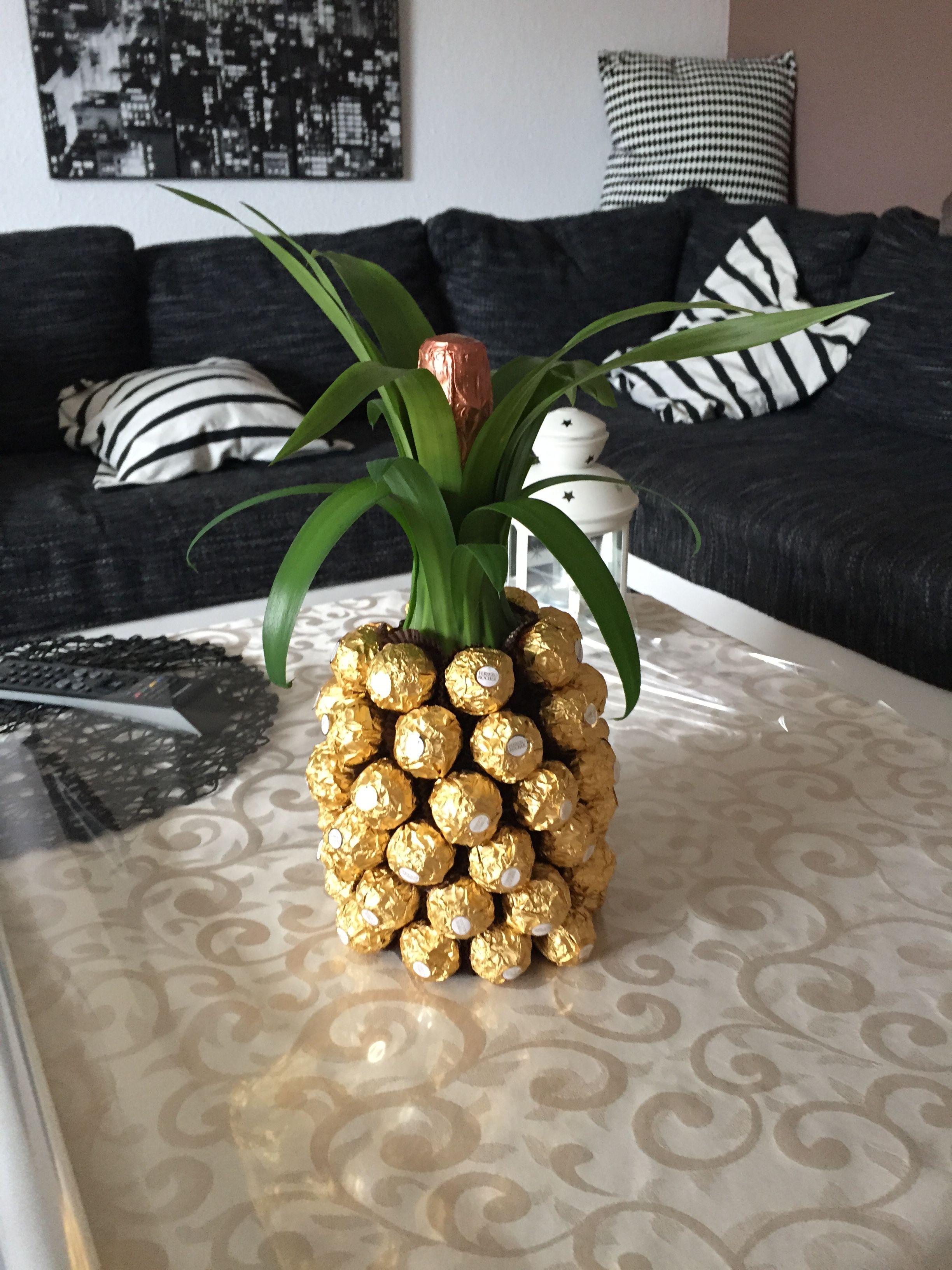 die besten 25 rocher ananas ideen auf pinterest geburtstagsgeschenk basteln geld originelle. Black Bedroom Furniture Sets. Home Design Ideas
