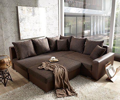 cavadore 503 polsterecke mavericco 3 er longchair xl 285 x 92 x 170 cm antik chocco. Black Bedroom Furniture Sets. Home Design Ideas