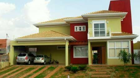 Casa fachada pintada por fuera 450 252 lu for Colores para casas por fuera
