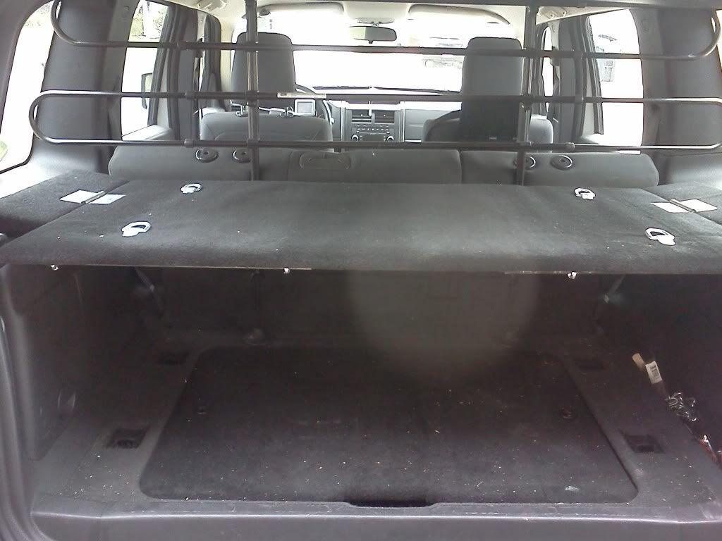 jeep rear cargo shelf
