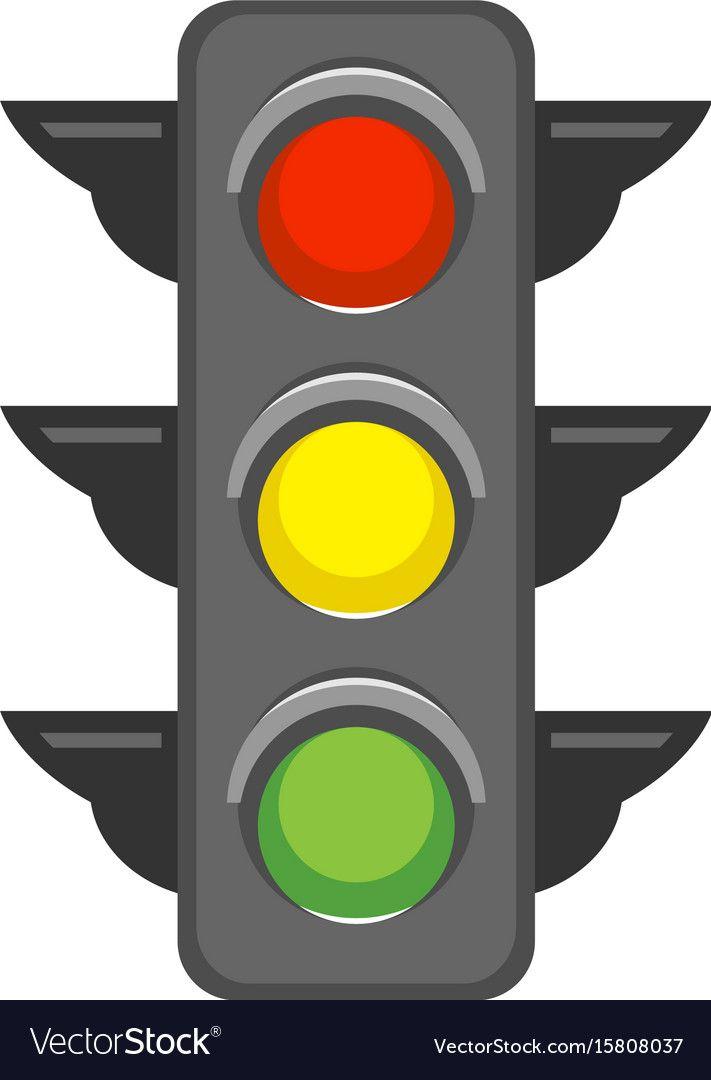 Traffic Light Royalty Free Vector Image Vectorstock Traffic Light Art Transportation Borders For Paper
