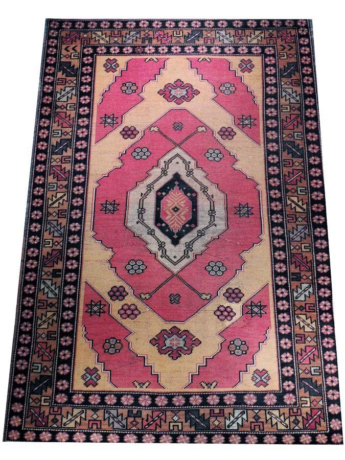 Tribal Turkish Semi Antique Rug 100 Vegetable Dyes 100 Wool Handmade In Turkey Rugs Antique Rugs Turkish Rug