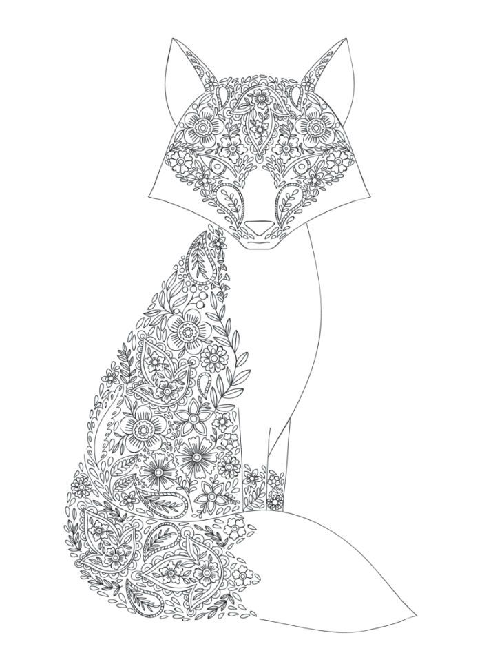 Zorro Para Colorear With Images Fox Coloring Page