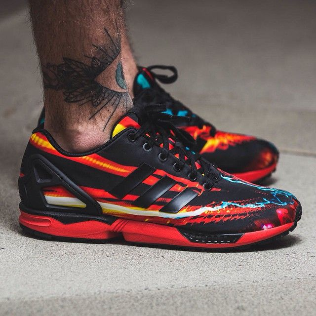 Adidas Zx Flux Red Black Carbon
