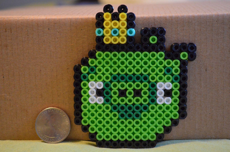 Angry Bird Pig Perler Beads by JustinsPerlerShop | Hama / Perler ...