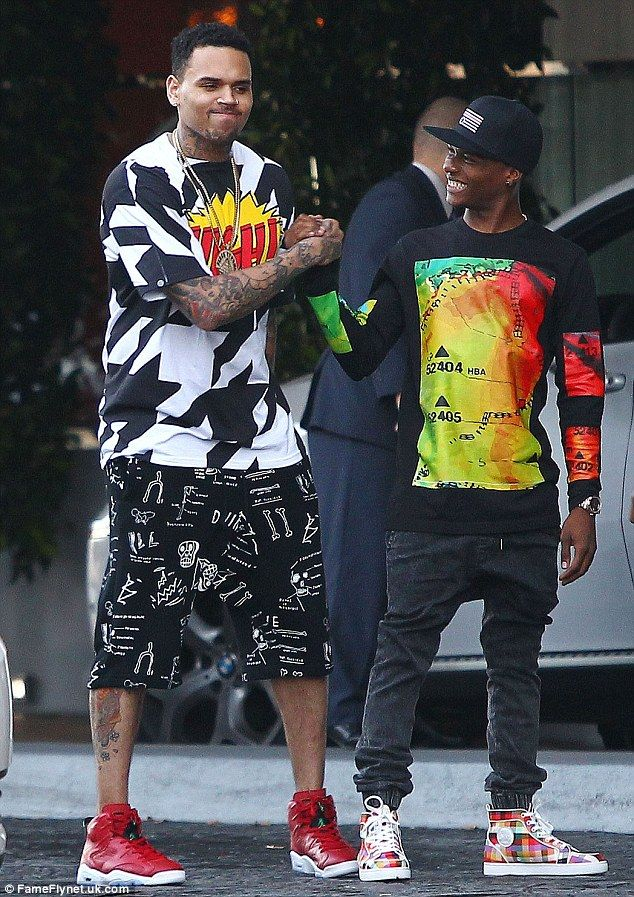 e-PubliCity: Wizkid hangs out with Chris Brown and Karrueche Tran