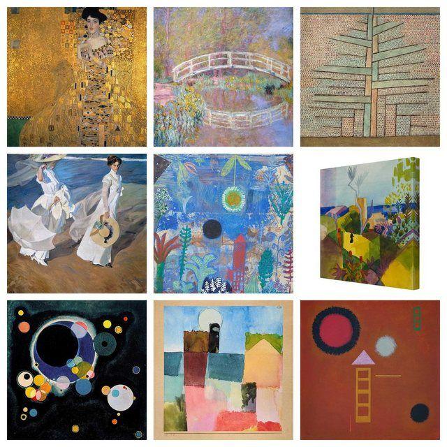 Photo of Bilderwelten Leinwandbild Quadrat 1:1 »Top Künstlerbilder auf Leinwand I« online kaufen | OTTO