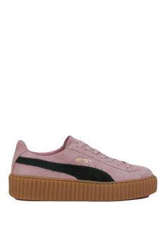 Puma x Rihanna Suede Creepers - Pink/Green Oatmeal