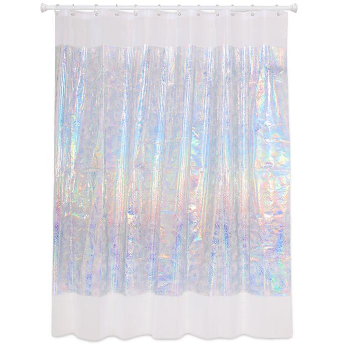 Laser Spiral Iridescent Shower Curtain Bed Bath Beyond