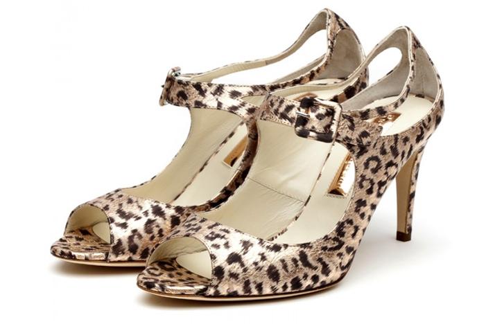 leopard print wedding shoes wild bridal