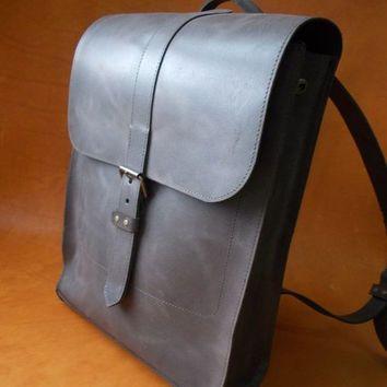 Backpack vintage, genuine leather, backpack, men backpack, leather ...