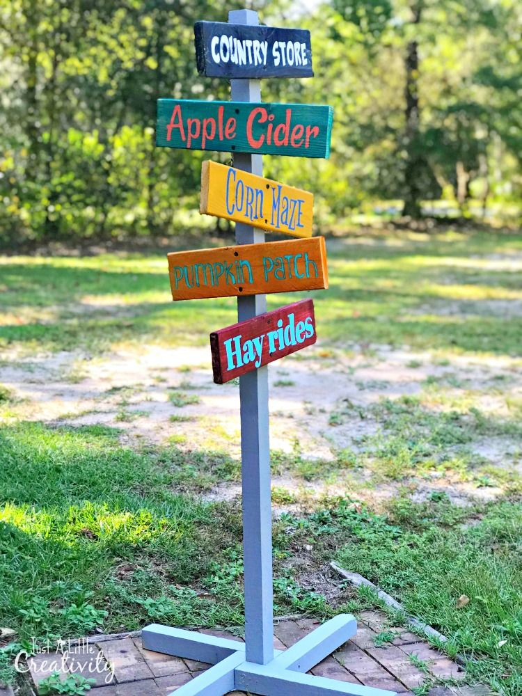 Diy Fall Festival Directional Sign From