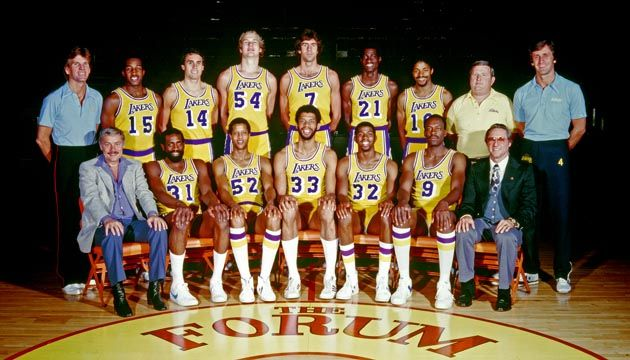 1980 Laker Championship Team Lakers Roster Los Angeles Lakers Lakers Team