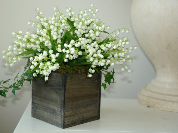 Wood boxes woodland planter flower box rustic barn square - Wooden containers for flowers ...