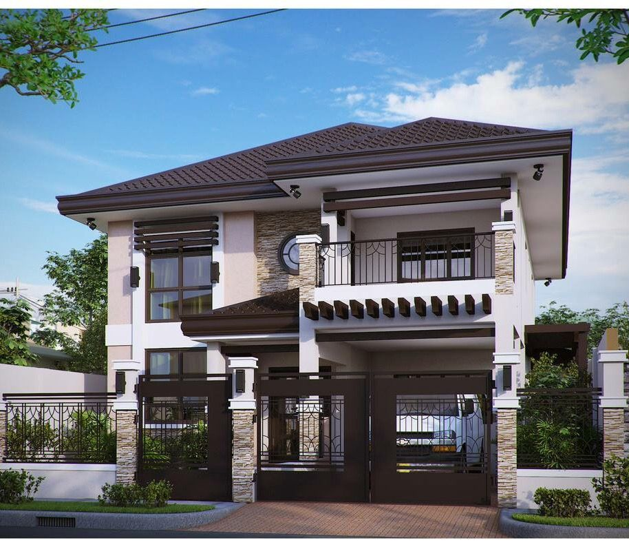 Pin By Azhar Masood On House Elevation Modern House Philippines House Designs Exterior 2 Storey House Design