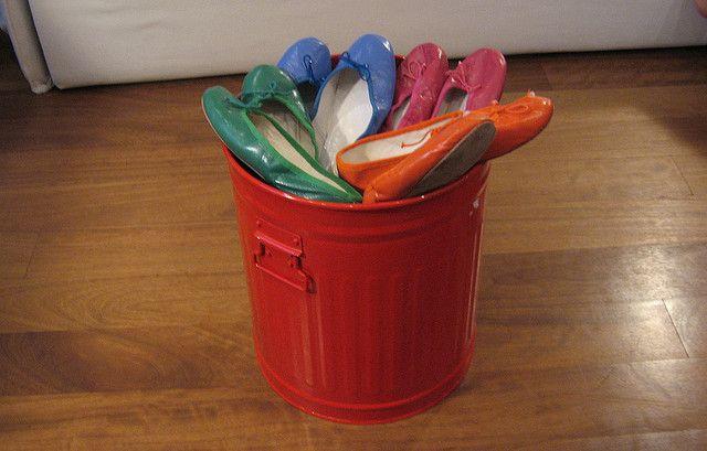 a bucket of porselli ballet flats