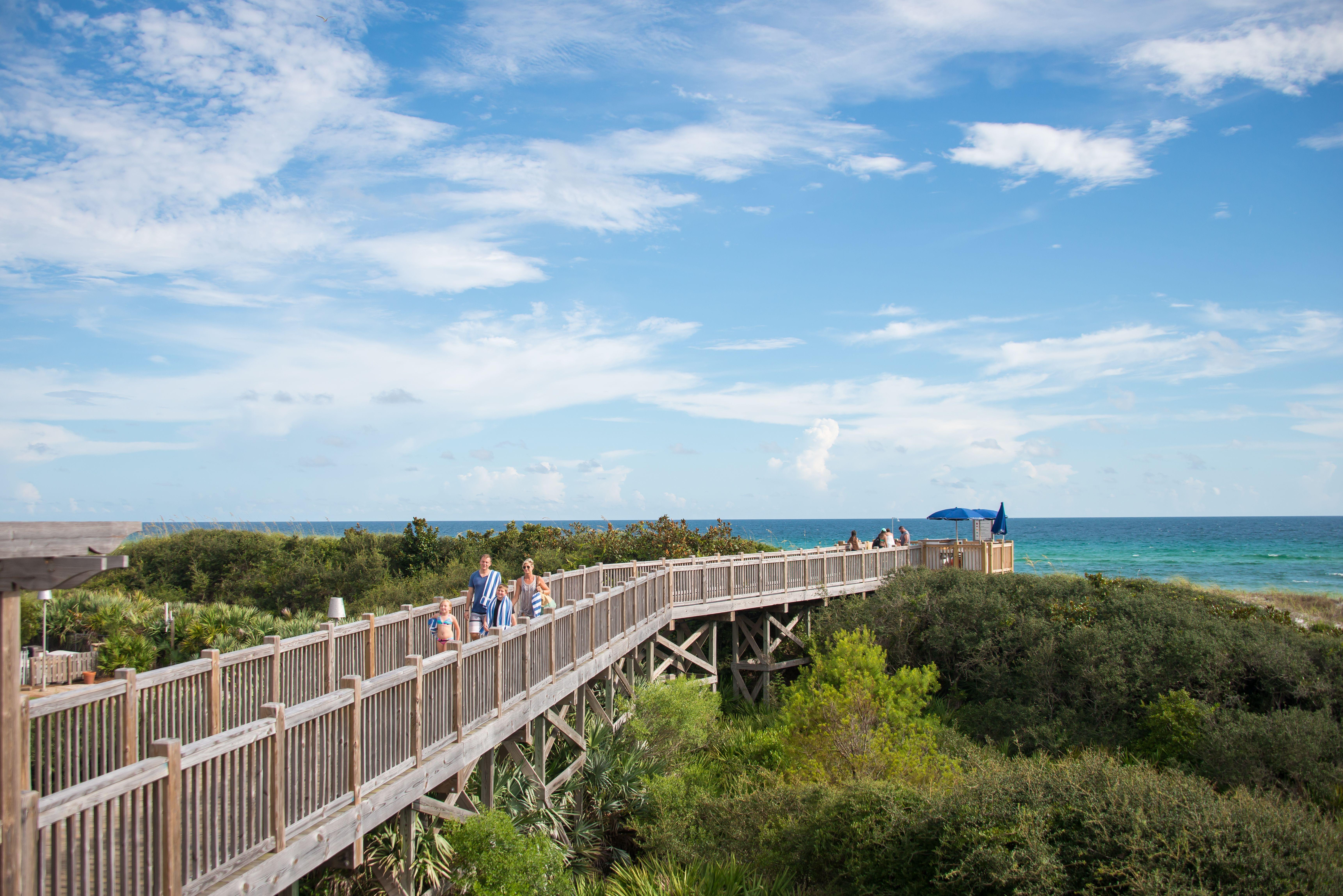 Beach Boardwalk Watercolor Beach South Walton 30a Florida