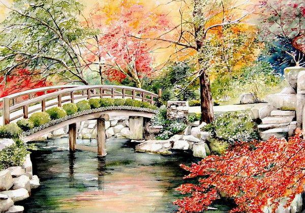 Peintures De Maria Claire Houmeau Paysage Chinois Peinture