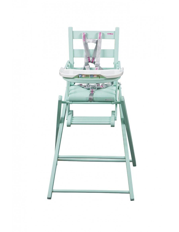 Astonishing Combelle Sarah Fold Away High Chair Mint Green Childcare Machost Co Dining Chair Design Ideas Machostcouk