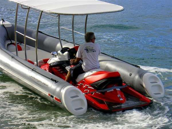 Dockitjet a jet boat and a jetski video cool things for Jet fishing boat