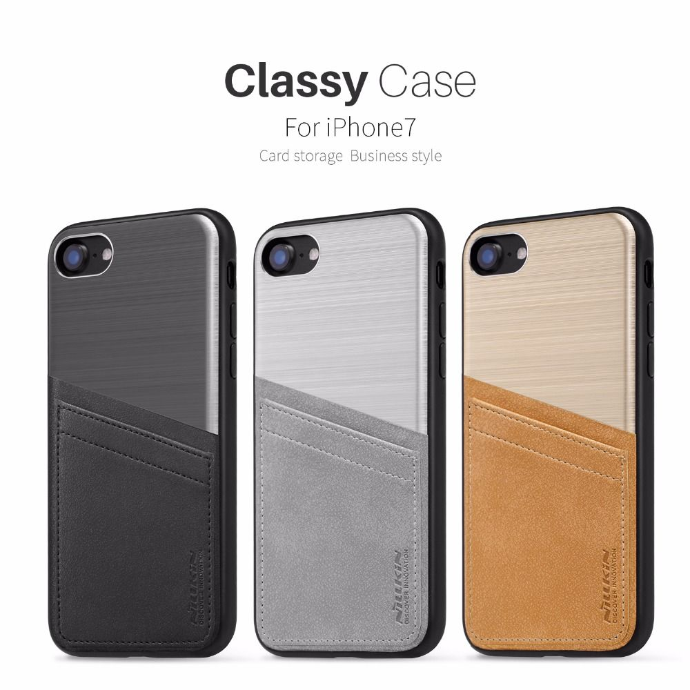 For iPhone 7 Case Cover 4.7 inch Nillkin Classy Case Luxury Leather Back Cover For iPhone 7 Phone Case With Card Slot Holder