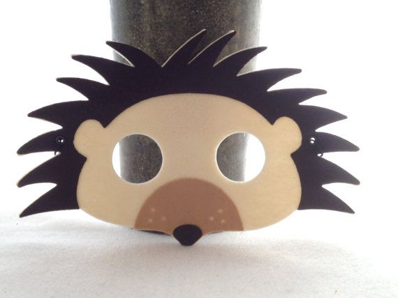 funky hedgehog mask woodland creature felt animal mask. Black Bedroom Furniture Sets. Home Design Ideas