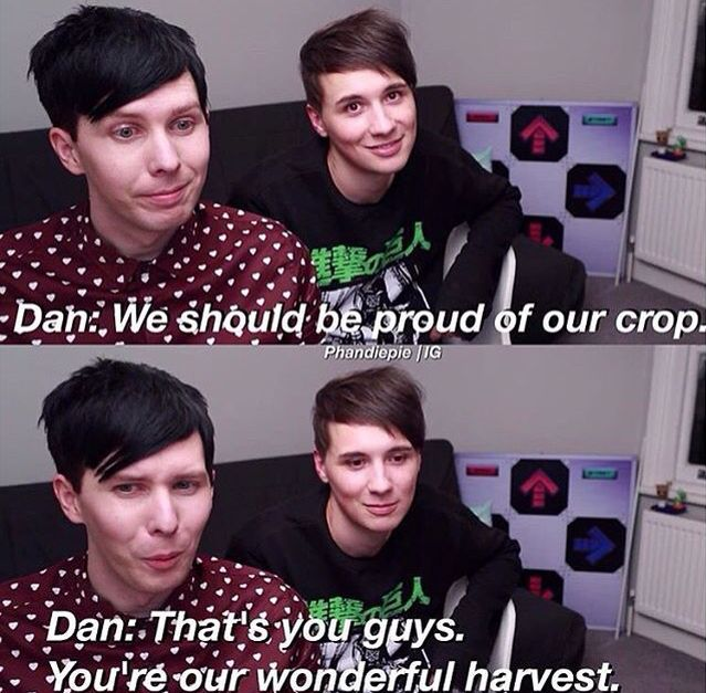 I am proud to be part of your crop, Dan