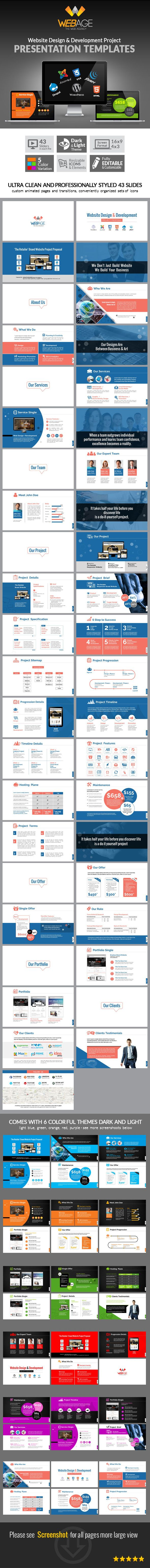 web design & development project presentation - business, Presentation templates