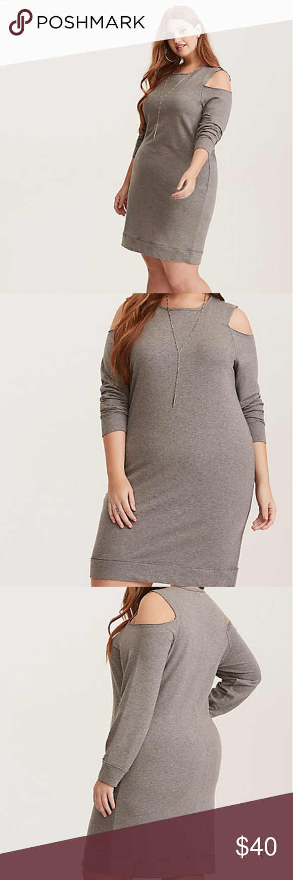 b5228be0ac5 Grey French Terry Cold Shoulder Sweatshirt Dress We re calling it now  this  will