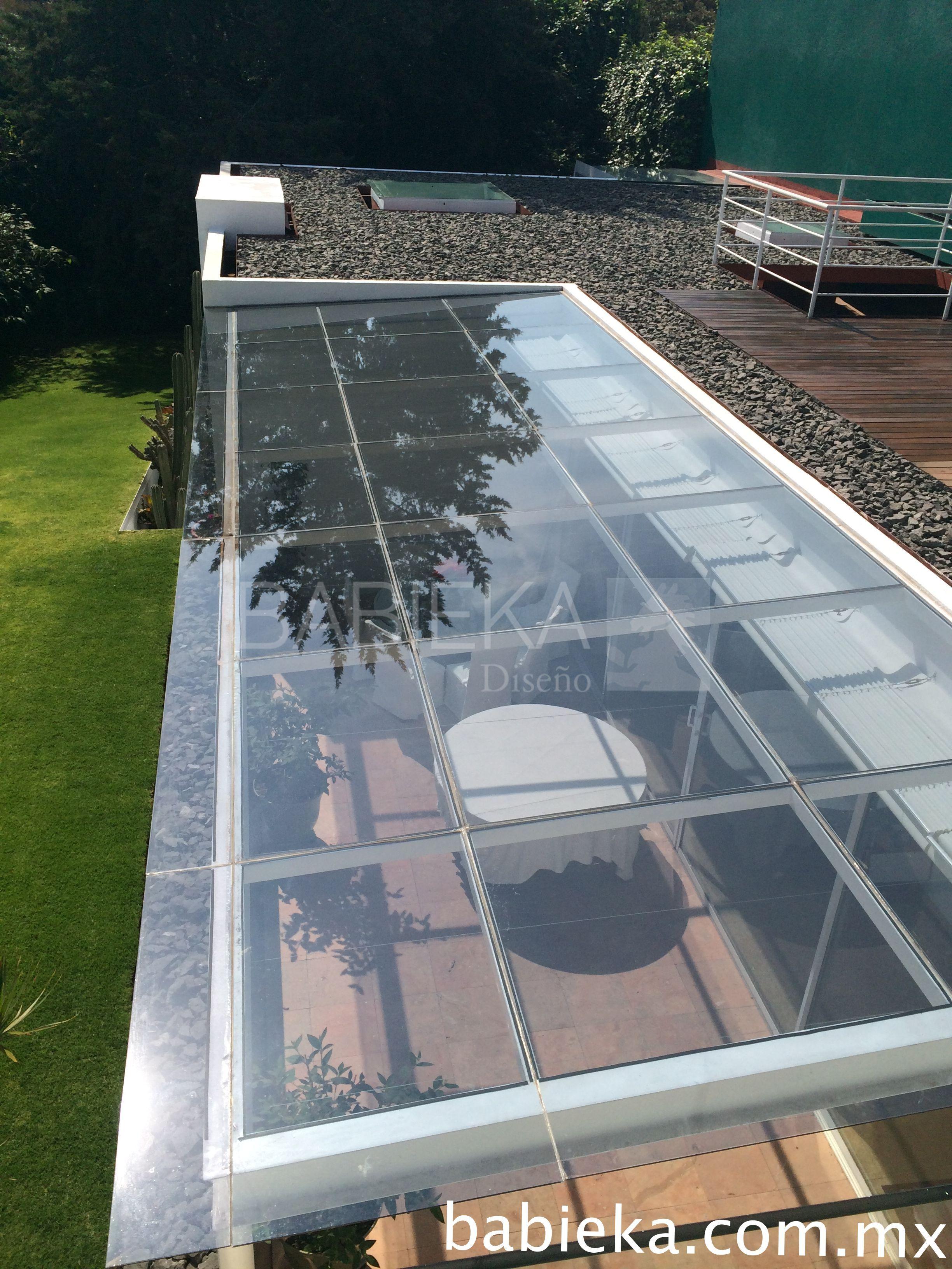 Domo de cristal templado en estructura de herrer a techos patio sunroom - Cubierta de cristal ...