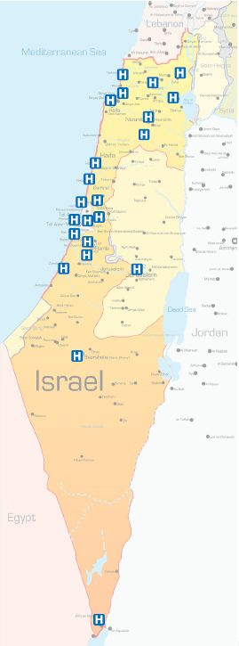 awesome Israel Map Tourist Attractions  Travelquaz  Pinterest
