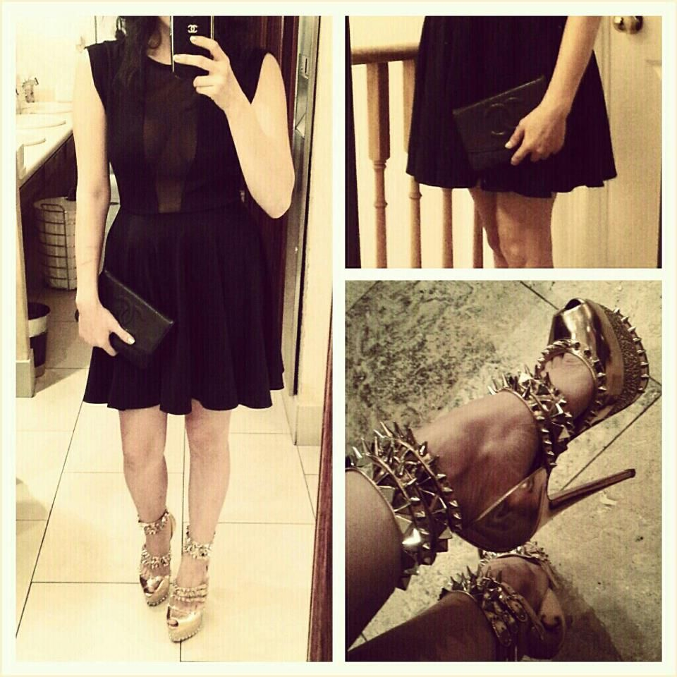 The dress is chanel - Dress By The Windsor Store Shoes Are Christian Louboutin Rose Gold Isolde 160mm And My