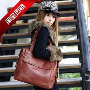78.20$  Buy here - http://alit7y.worldwells.pw/go.php?t=839793380 - 2017 women handbag genuine leather first layer of cowhide bag women shoulder bag vintage bags