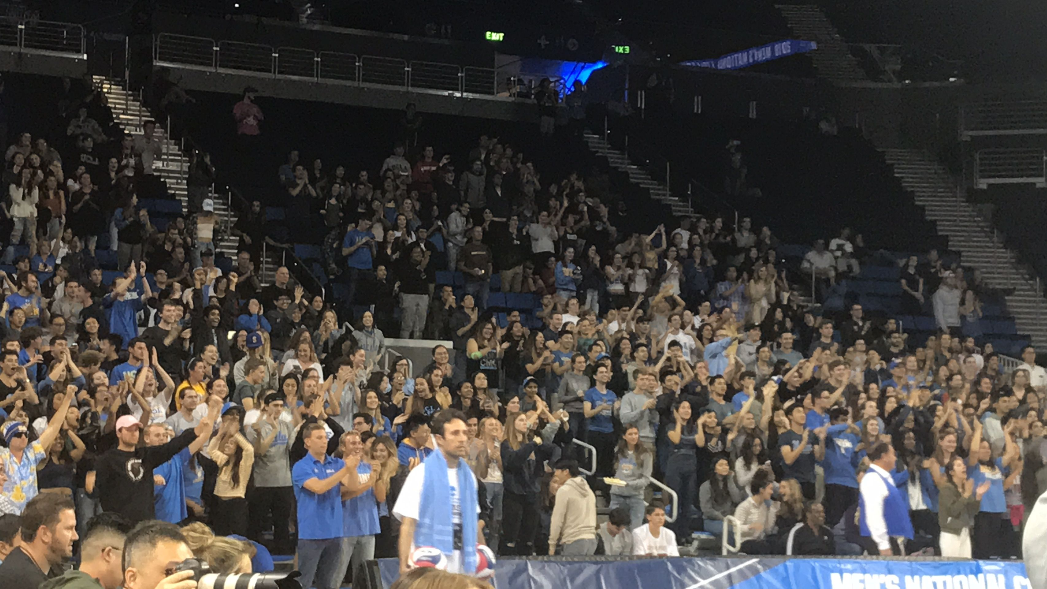 Fans At The 2018 Ncaa Men S Volleyball Championship At Ucla Volleyball Net Volleyball Outdoor Volleyball Net