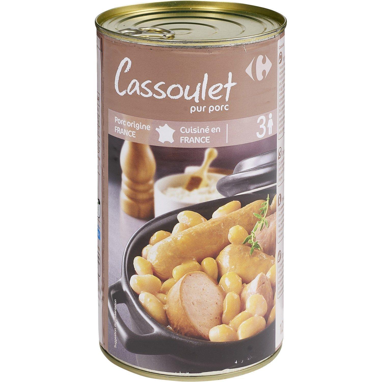 Plat Cuisine Cassoulet Carrefour La Boite De 1260 G A Prix