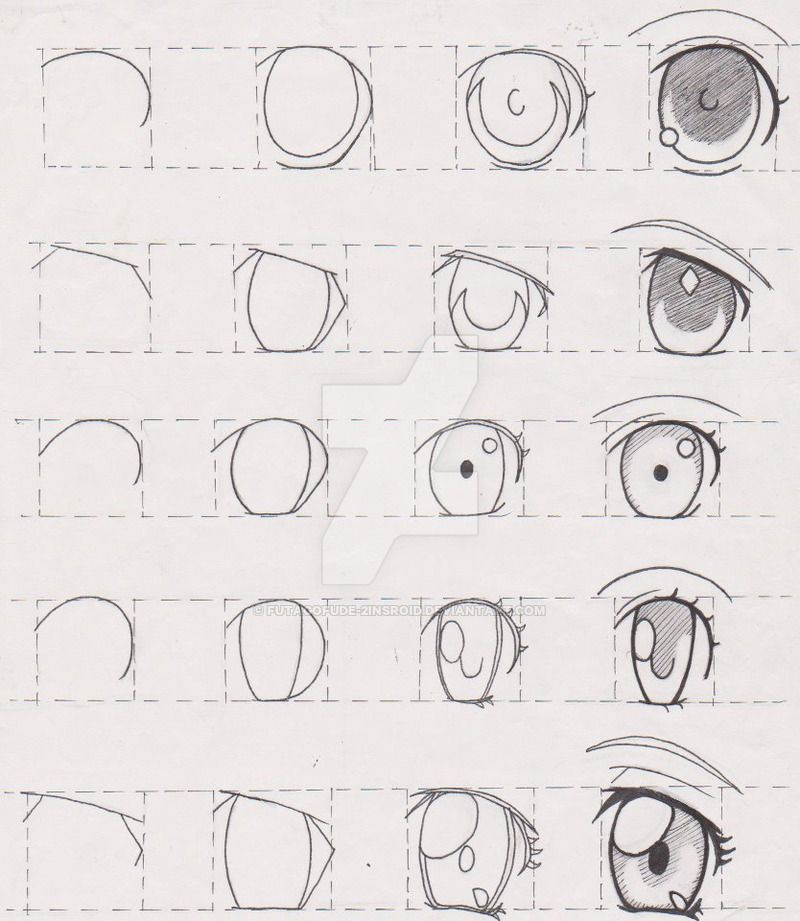 Step By Step Eye Drawing Tutorials How To Draw Anime Eyes