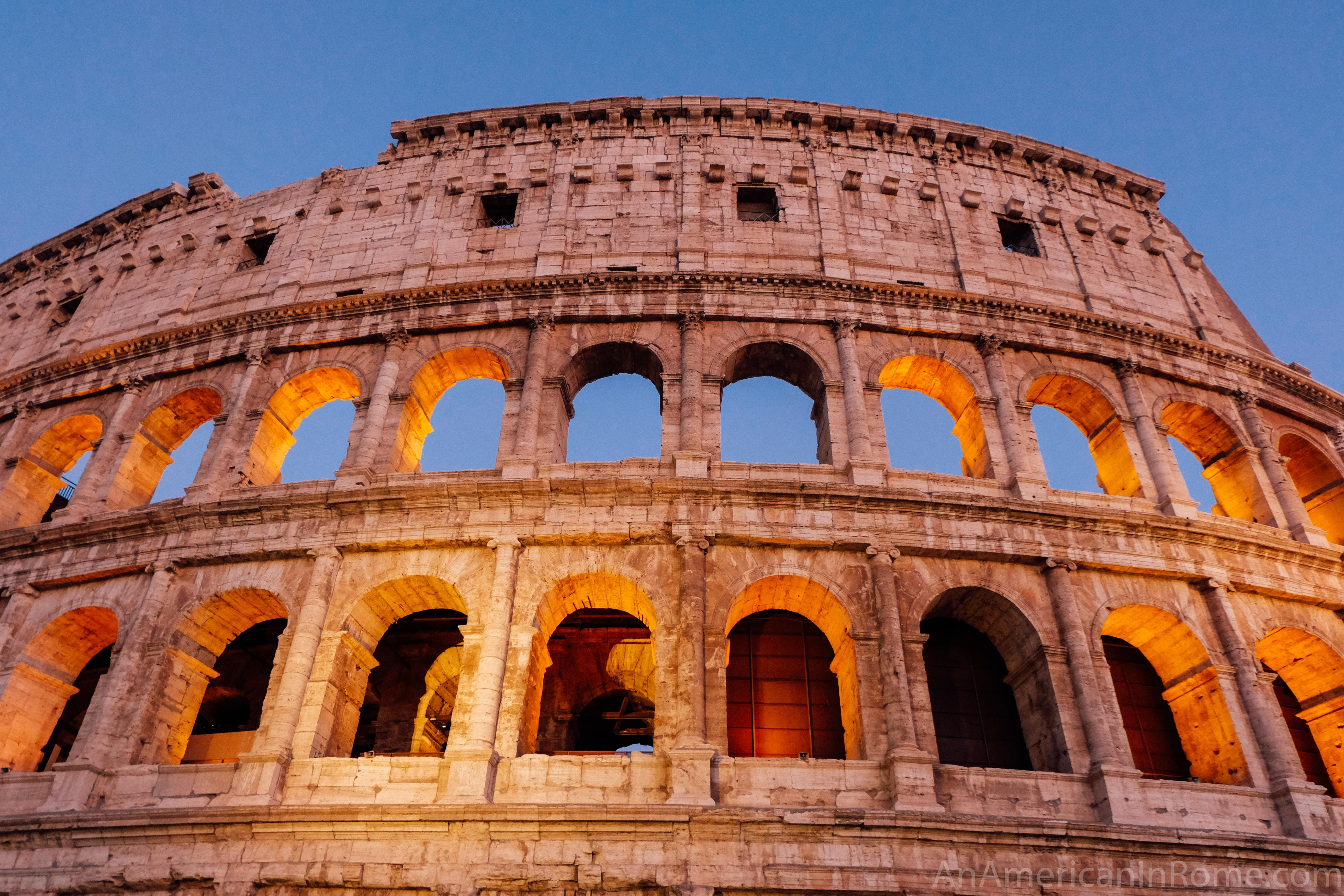 Visiting The Colosseum At Night With Images Famous Monuments