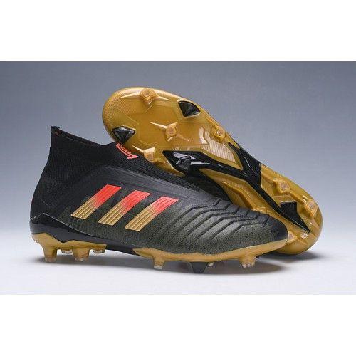 fa9a05070a17 Nuevos 2018 Botas de fútbol Adidas Predator 18+ FG Pogba Hombre En Venta  Negro dorado
