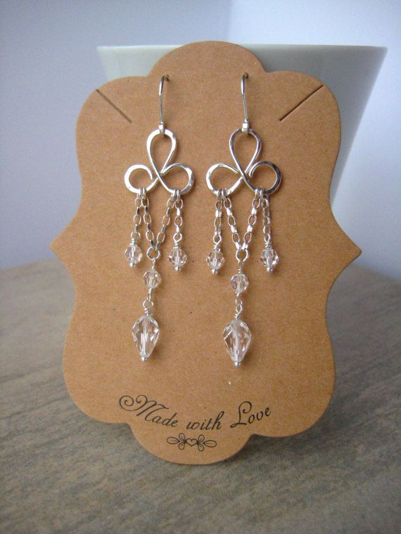 Sterling silver earrings hand forged sterling silver and swarovski sterling silver earrings hand forged sterling silver and swarovski chandelier earrings ive forged the aloadofball Choice Image
