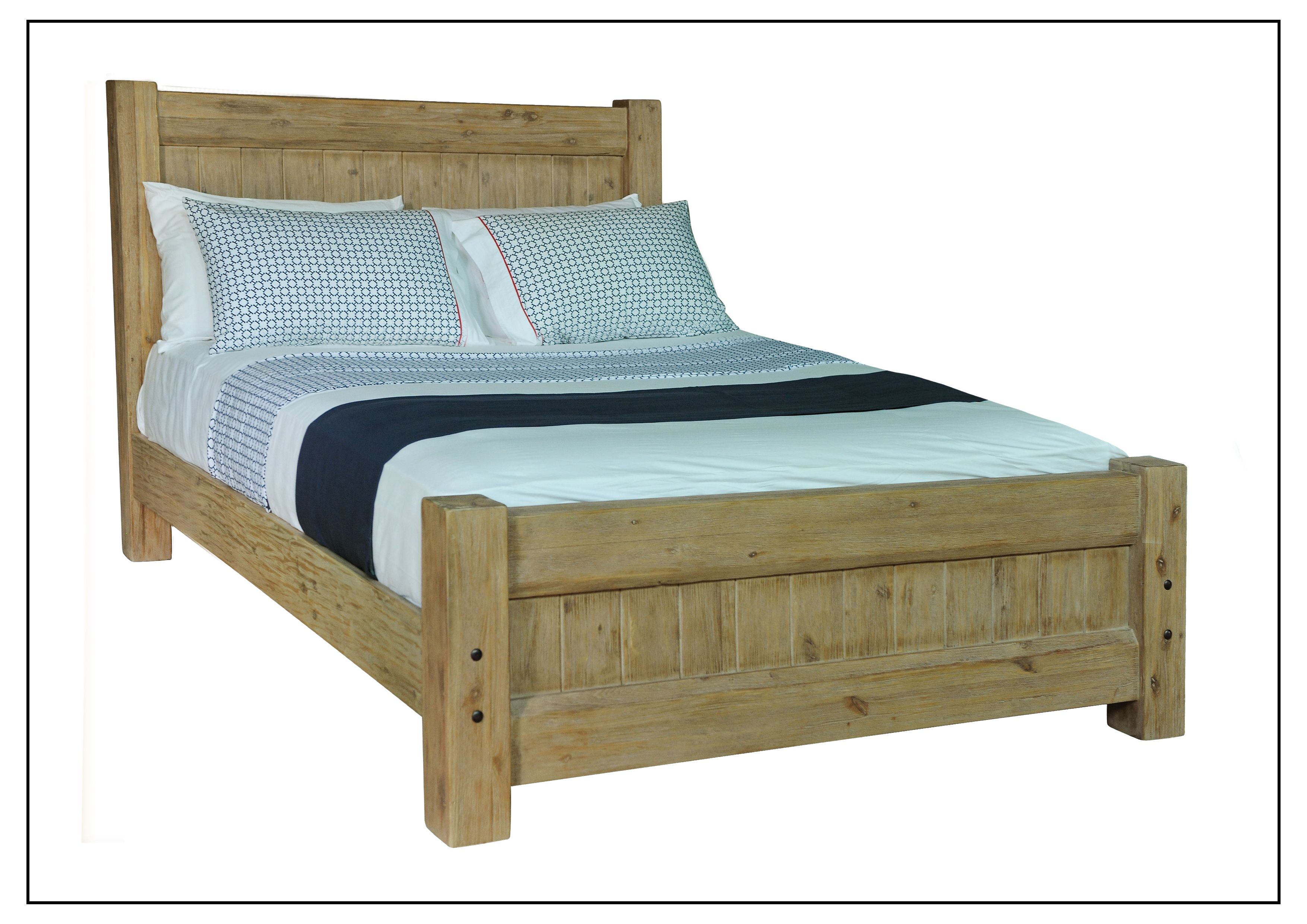 PQB022 Queen Bed Head Height 1250mm, Foot Height 550mm