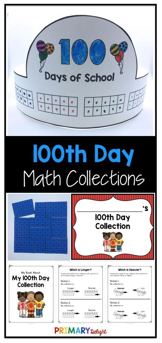 100th Day of School Math Activities with 100th Day Collections ...