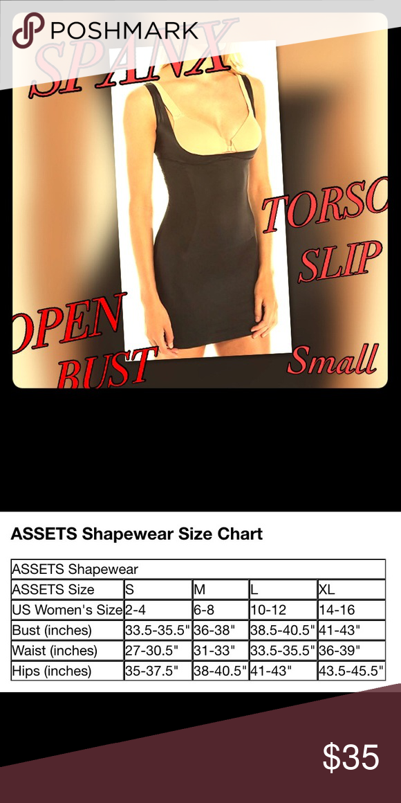 New Spanx Spot On Slimmers Open Bust Torso Slip New Without Tags