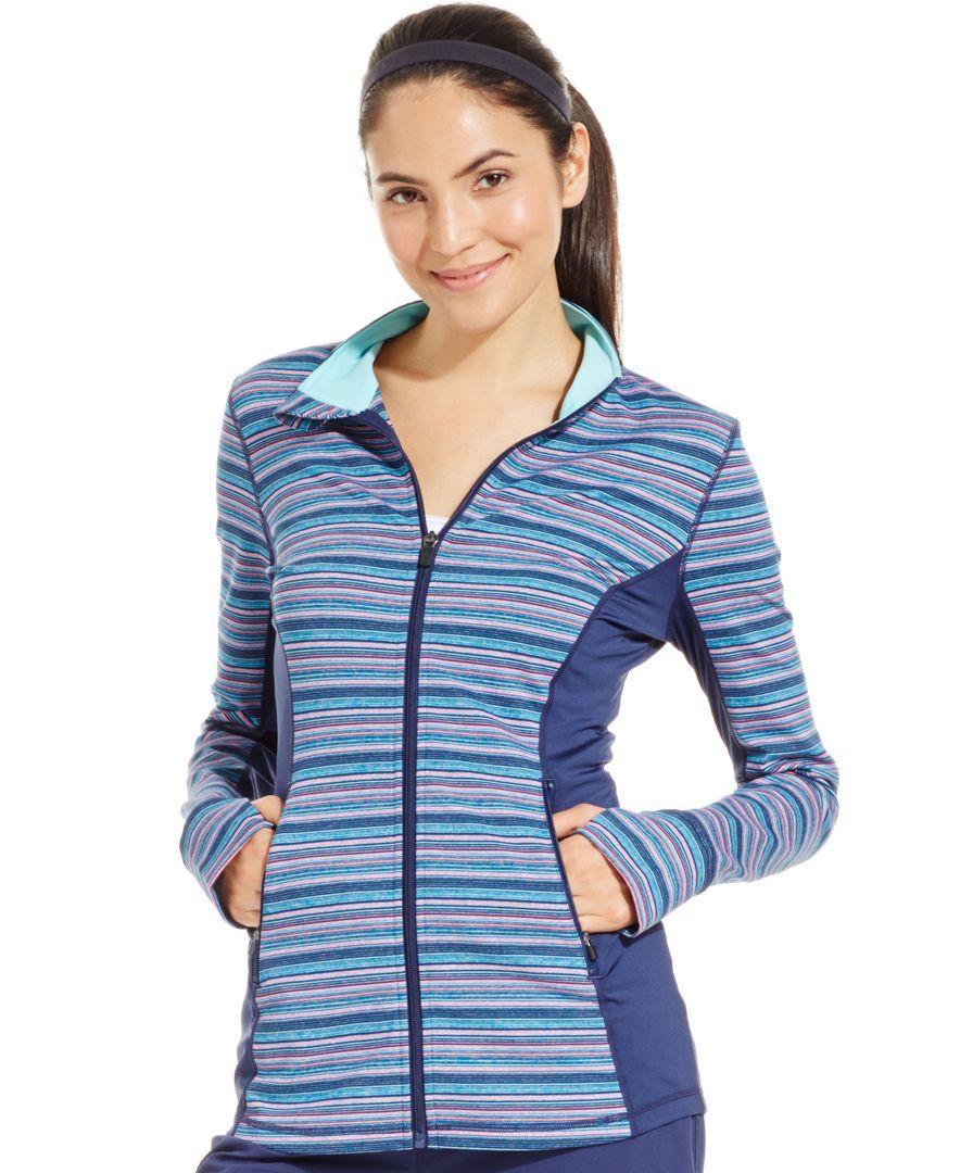 Ideology Striped Zip-Up Jacket