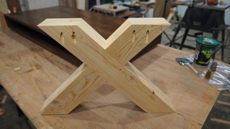 X Leg Coffee Table | Diy table legs, Farmhouse table legs ...