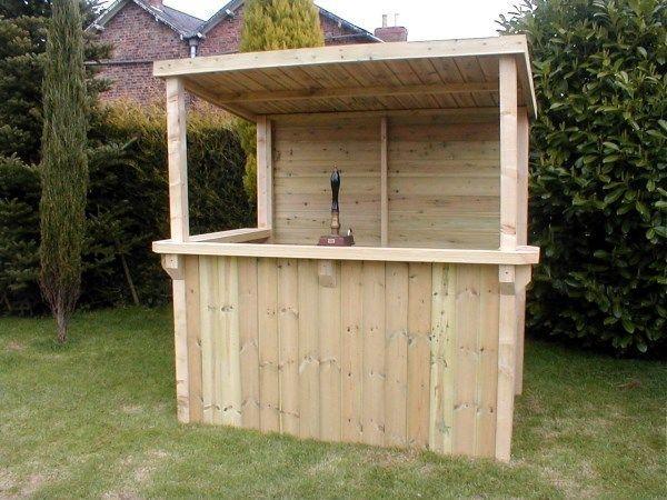 Tanalised Garden Bar Gazebo Fully T G Cladding Outdoor Bar Home